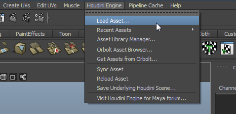 MAYAEngineMenu