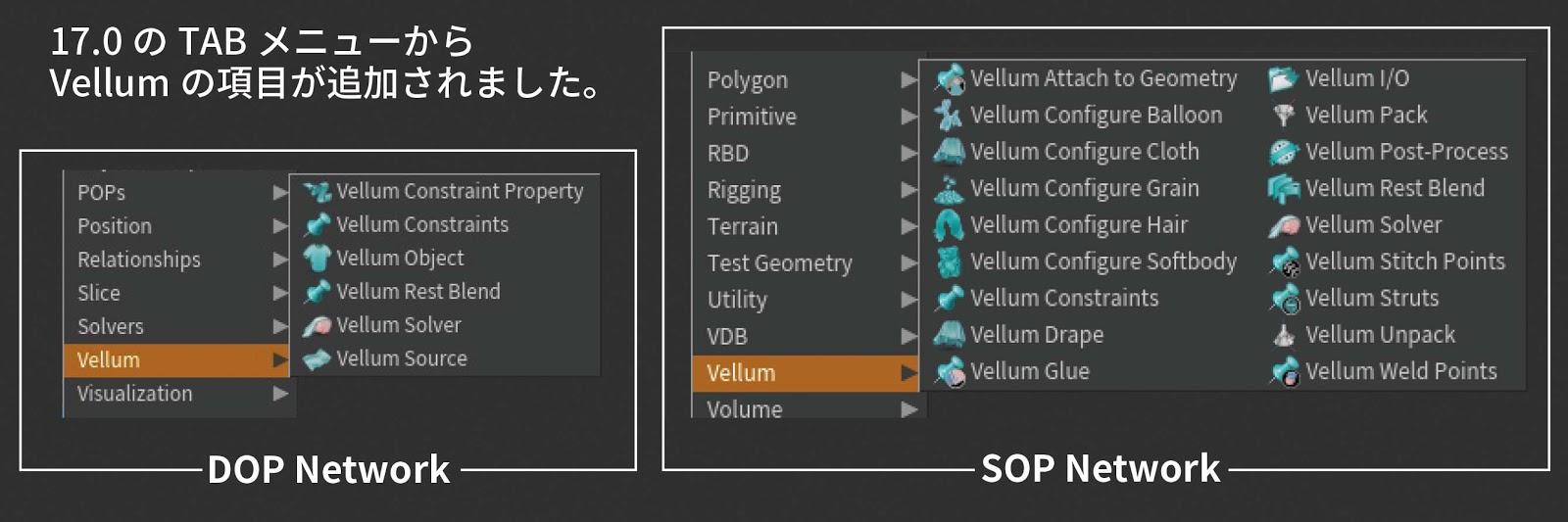 Vellum 機能 | インディゾーンHoudini情報日本語ブログ